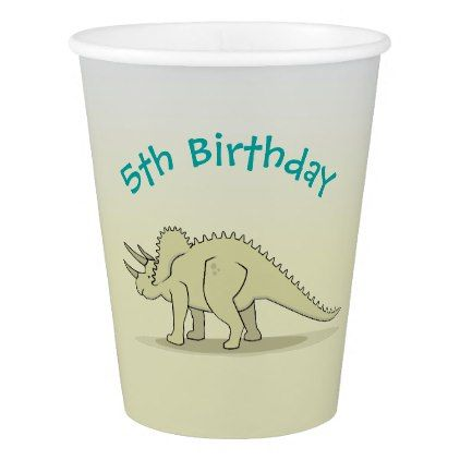 Triceratops Dino - Stone Age Theme VZS2 Paper Cup - animal gift ideas animals and pets diy customize