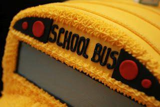 school bus cake--details