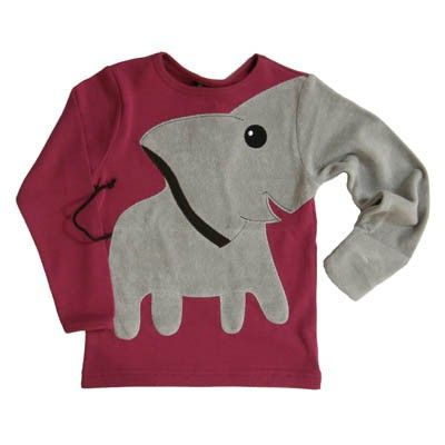 Elephant Sweater- if my kid wore this i would laugh at them.
