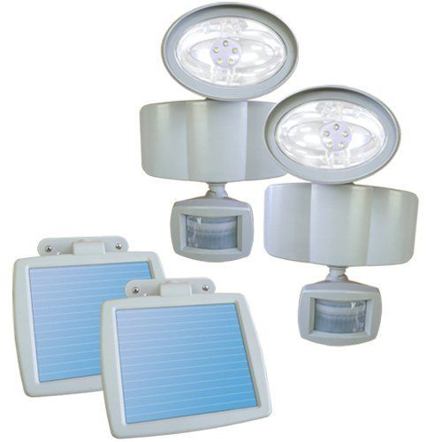 Sunforce 82250 Solar Motion Light - Pack of 2 by Sunforce. $70.06. Ideal for providing security and lighting garages, pathways, sheds, and dark and remote areas, The Sunforce Solar Motion Light Two Pack feature super-bright LEDs that are strong and long-lasting. Maintenance free and easy to install, no wiring is required! The 82250 uses an amorphous solar panel to charge during the day, and then turns on at night with the built-in motion sensor. These solar panels are weat...