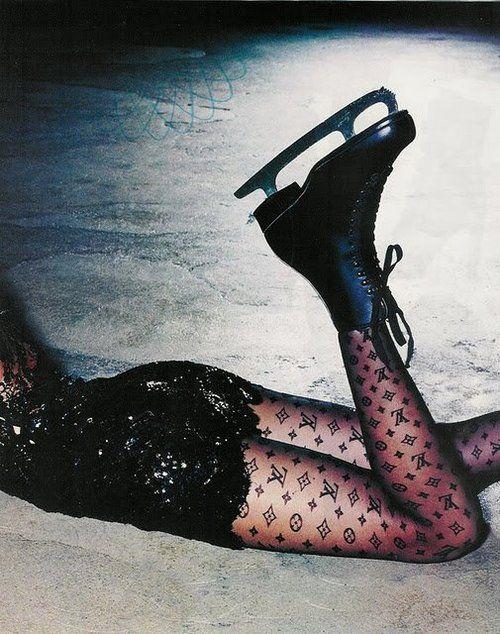 Louisvuitton, Fashion, Louis Vuitton, Paris Chic, Black Outfit, Iceskating, Tights, Ice Skating, Figures Skating