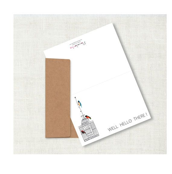 Custom Note Cards, Handmade Stationary, Party Invitation, Monogram Stationary, Personalized stationary, Folded notecards