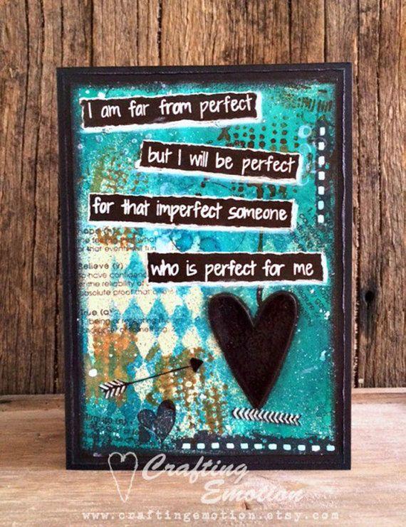 Handmade Greeting Card Self Love Card by CraftingEmotion on Etsy $11.75AUD