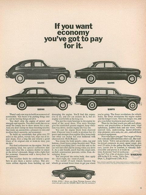 Vintage Volvo ad.