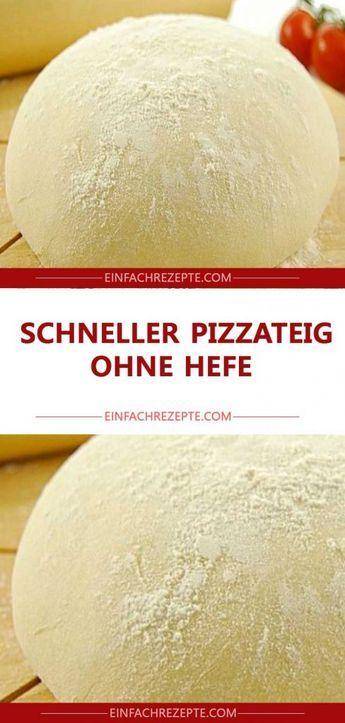 SCHNELLER PIZZATEIG OHNE HEFE – S Elli