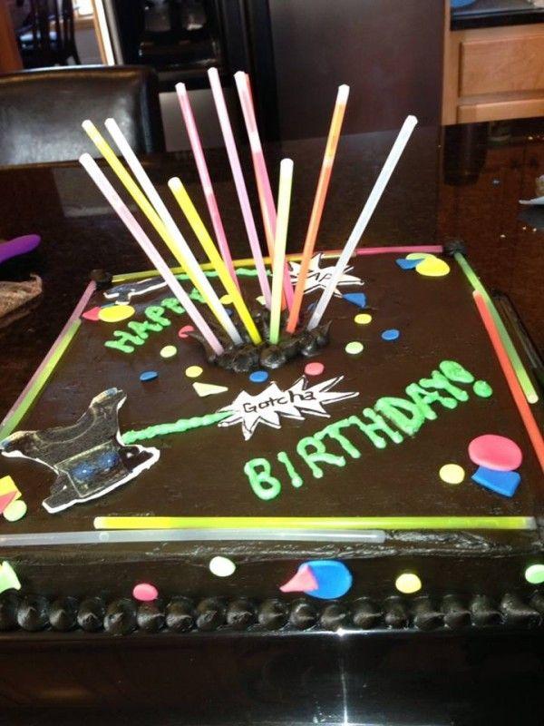 lazer tag cakes | Lazer Tag Cake