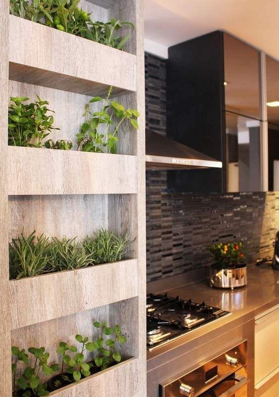 Indoor Herb Garden Idea using the space available in kitchen #smallgardenideas #sgi