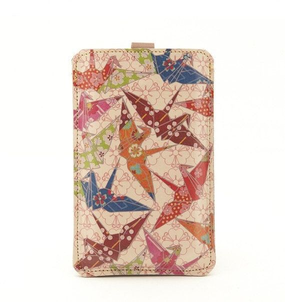 Leather iPhone ALL iTouch All case  Paper cranes by tovicorrie, $40.00