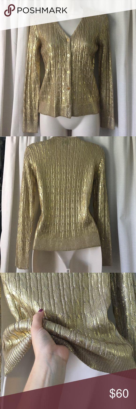 Oscar de La Renta Stunning knit sweater with gold Oscar de la Renta Sweaters Cardigans