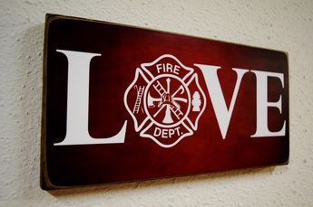 Firefighter Gift, Fireman Gift, Firefighter Decor, Fireman Decor, Firefight Sign, Fireman Sign, Firefighter Wedding, Fireman Wedding by Herosigns on Etsy https://www.etsy.com/listing/199801303/firefighter-gift-fireman-gift
