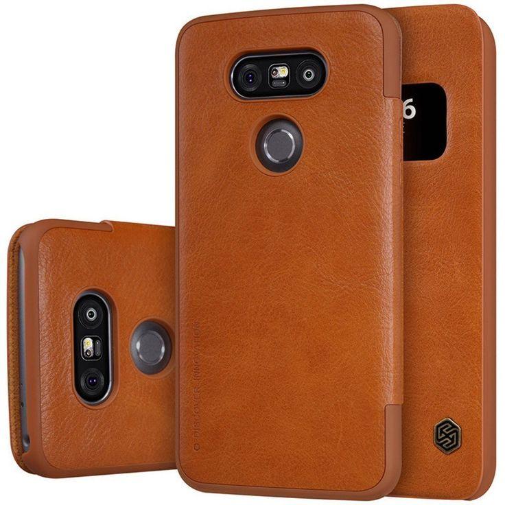 #VINNY ™ LG G5 Leather #Flip #Cover #Original Nilkin (QIN Series) #BROWN