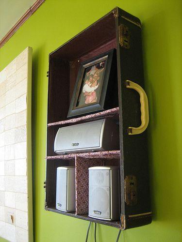 Open Display - Vintage Suitcase Shelves