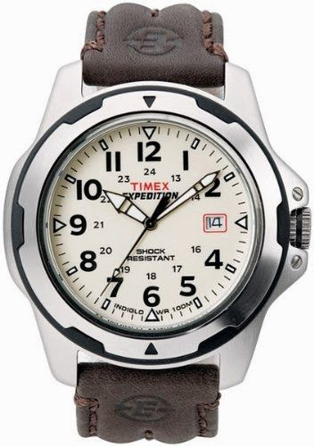 Timex Men's T49261 Expedition Rugged Field Shock Analog Brown Leather Strap Watch $45.69 http://roksmu.blogspot.com/2014/07/expedition-watches.html