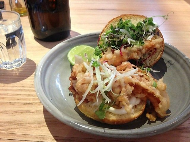 Top Paddock - Soft shell fresh Queensland mud crab roll with fennel, dill & lime mayonnaise in a brioche bun.