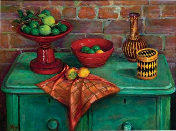 Untitled - Still Life with Green Chest of Drawers