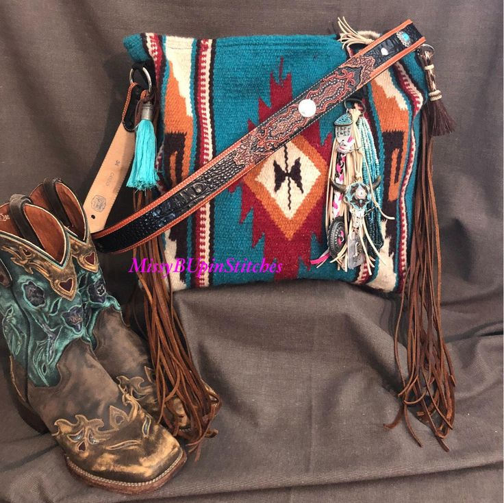 A personal favorite from my Etsy shop https://www.etsy.com/listing/567377701/saddle-blanket-bag-navajo-blanket-brown