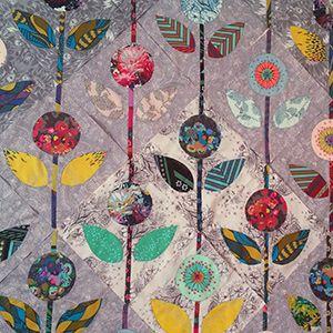 QuiltCon 2017 Folk Flower Quilt