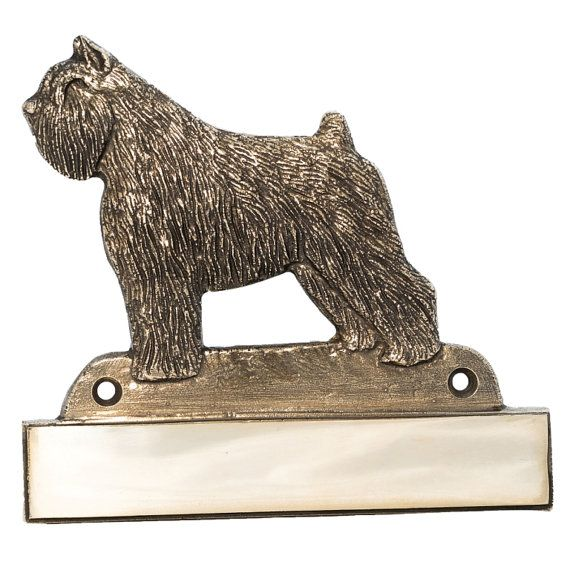 Bouvier des Flandres dog plaque can be engraved limited