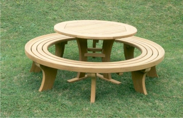 Crace | Wooden Garden Furniture - Circular Table and Bench | table ...