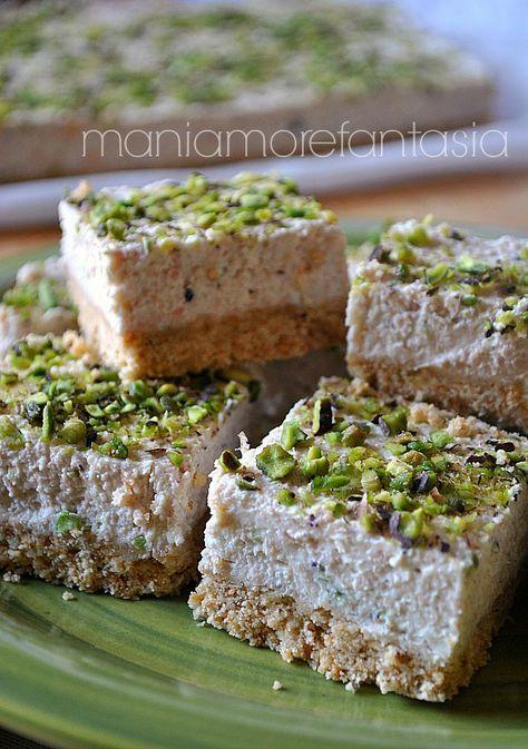 cheesecake salata mortadella e pistacchi senza cottura