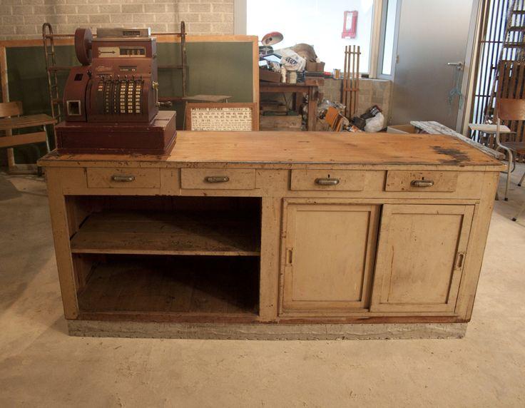 Keukeneiland Vintage : oude toonbank te koop Google zoeken keuken Pinterest