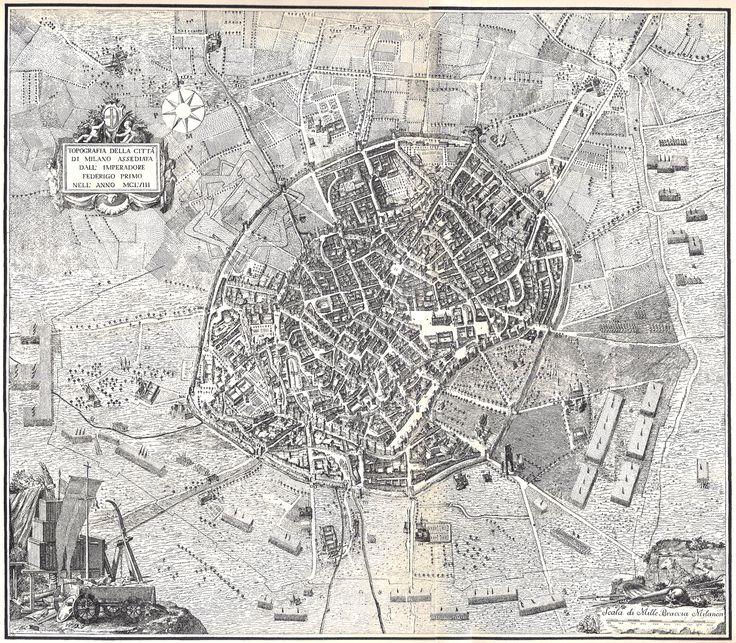 Topografia Milano1158 #mappe #storia #milano