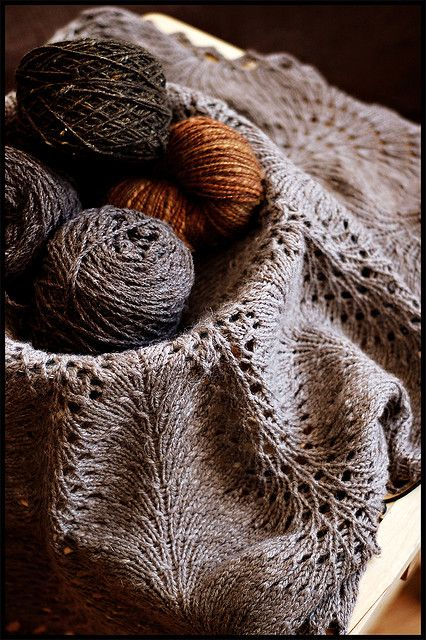 This one is Brooklyn Tweed but original free pattern is found on the Rainey Sisters website. Hemlock lace #knitting