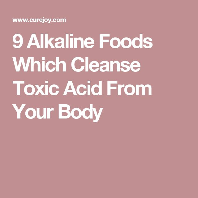 how to change your body from acid to alkaline