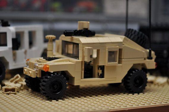 custom city Hummer HMMWV suv truck military vehicle humvee model built with real LEGO (R) bricks