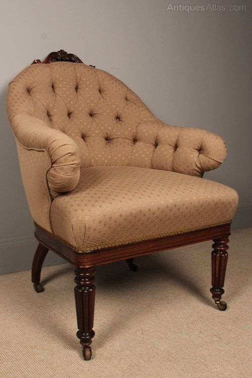 Fine William IV Rosewood Upholstered Chair   Antiques Atlas