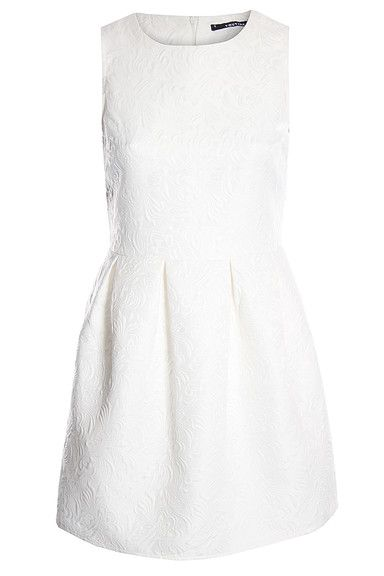 Sukienki koktajlowe kremowo-białe