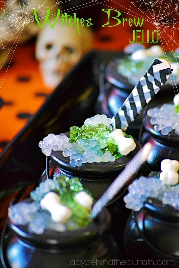 If you want to create a quick and easy kid friendly treat for Halloween then this Halloween Witches Brew Jello is the perfect Halloween Party Dessert treat!
