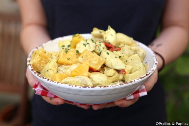 Poulet curry coco ananas