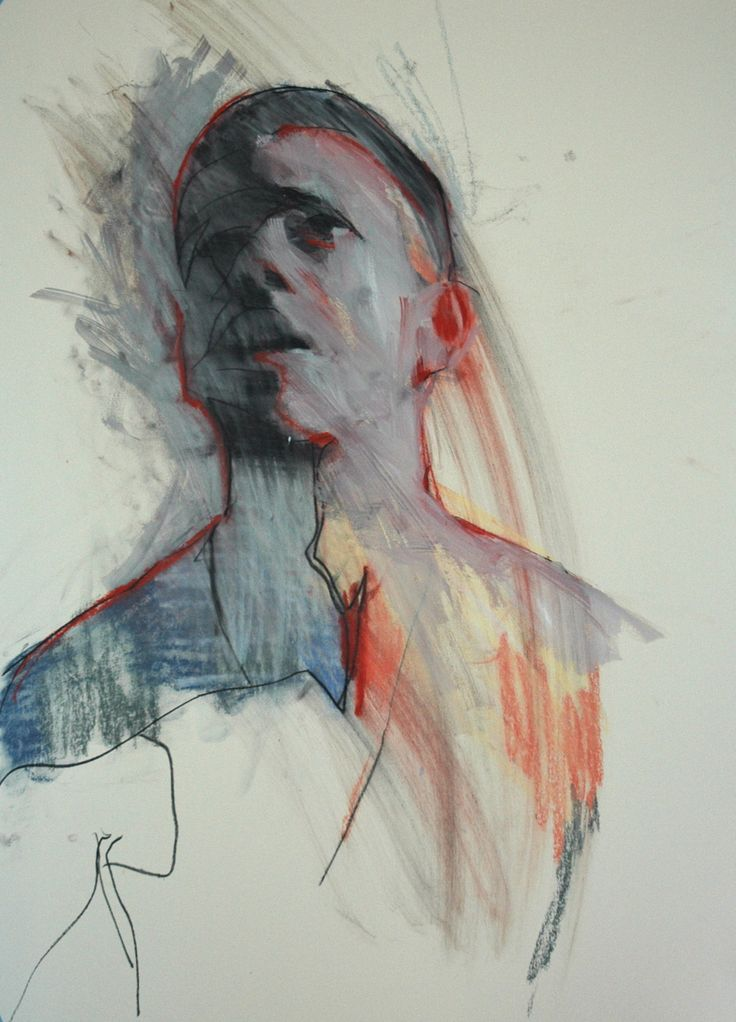 """Mark Horst """"one of these mornings no.1"""" 22"""" x 30"""", conte and pastel on paper. 2009www.markhorststudio.com"""