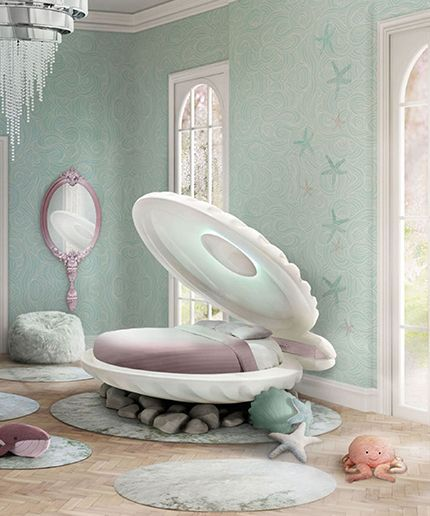 Little Mermaid Clamshell Bed