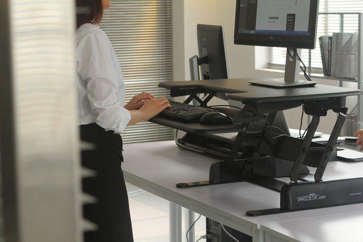 The patented VARIDESK desktop riser - the perfect solution for office & home workers who work from a computer - #desktopriser - with a free desktop app - http://uk.varidesk.com/desktop-app