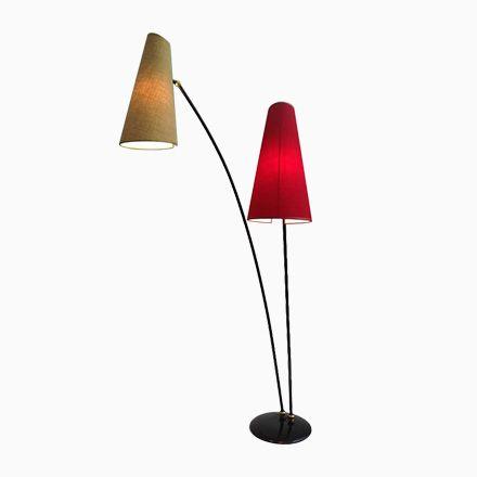 New Italienische Mid Century Stehlampe in Rot u Gelb er Jetzt bestellen unter https moebel ladendirekt de lampen stehlampen standleuchten uid udcdba