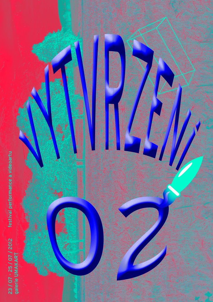 VYTVRZENI 02 - poster for Umakart Gallery - performance event