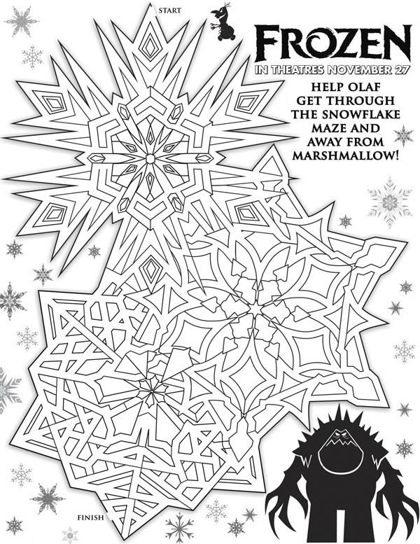 Disney Movie Frozen Poster Coloring Page Free Printable Pages
