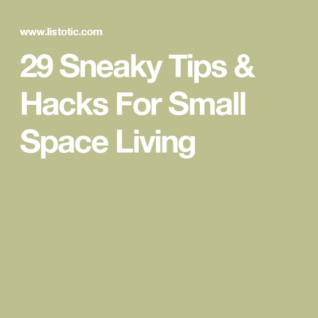 19 best images about hacks tips and tricks on pinterest for Small space living hacks