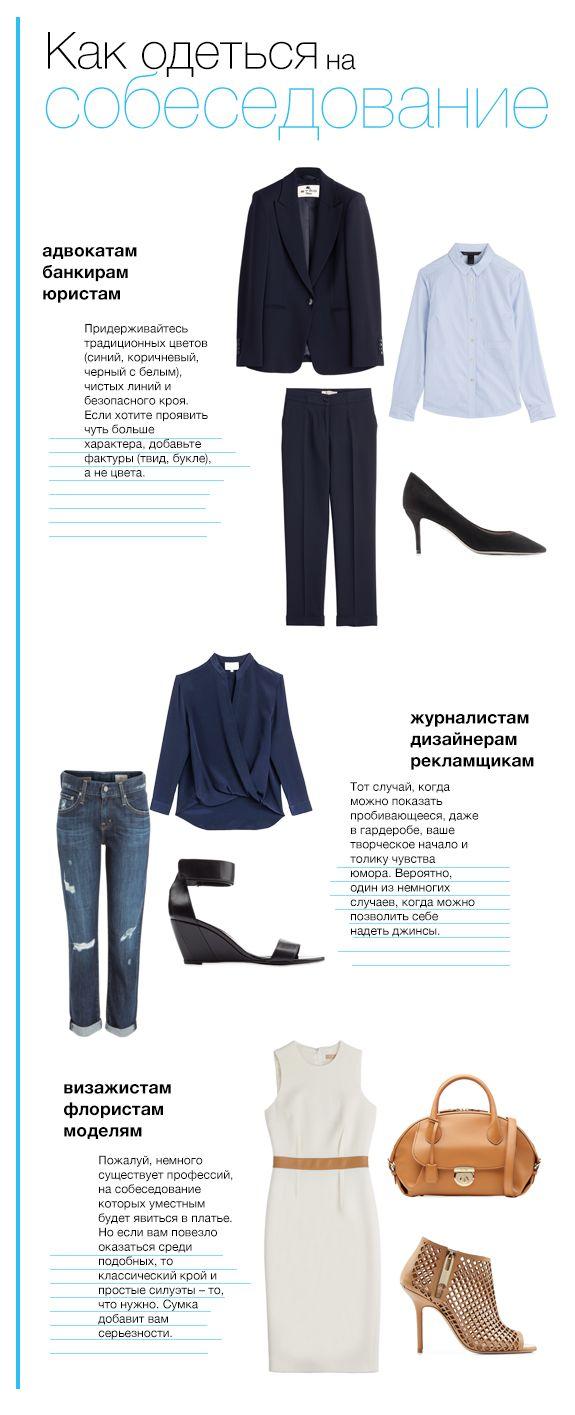 Инфографика: одеваемся на собеседование -  http://www.yapokupayu.ru/blogs/post/infografika-odevaemsya-na-sobesedovanie