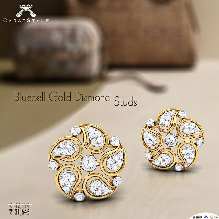 Rewrite your story with Bluebell Gold #Diamonds Studs...!! #studd #earring…