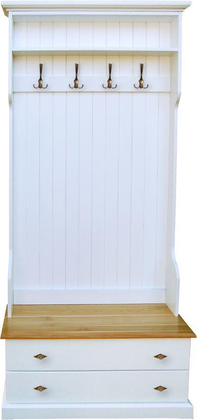 Przedpokój drewniany SIGMA z drewna, przedpokój garderoba meble do przedpokoju