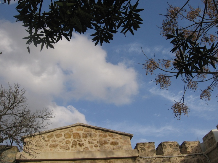 View from a bench in the garden of Notre Dame de Sion