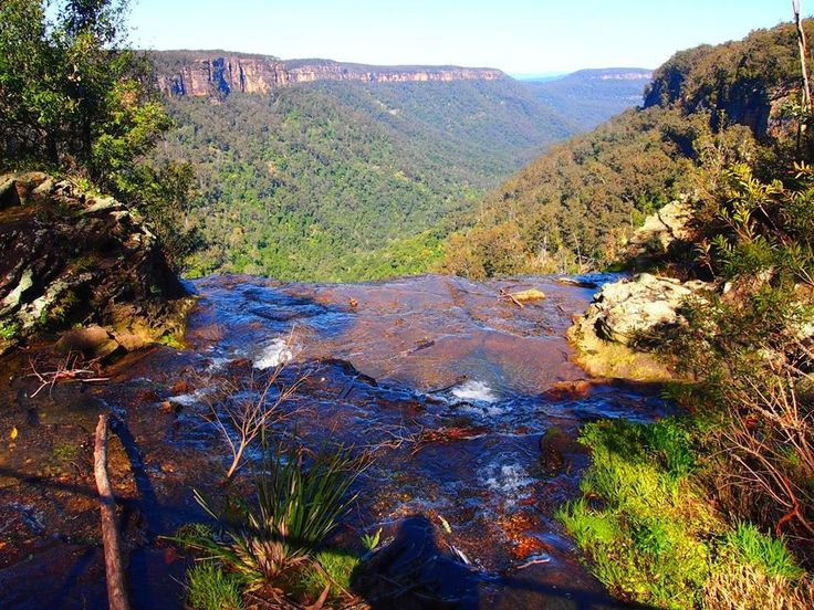 I took this standing atop the twin falls in the southern highlands. NSW Australia.
