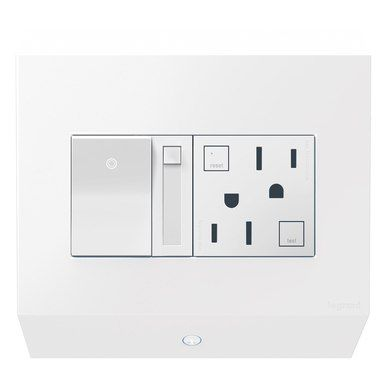 Legrand Control Box With Paddle Dimmer And 15a Gfci Apcb6w2