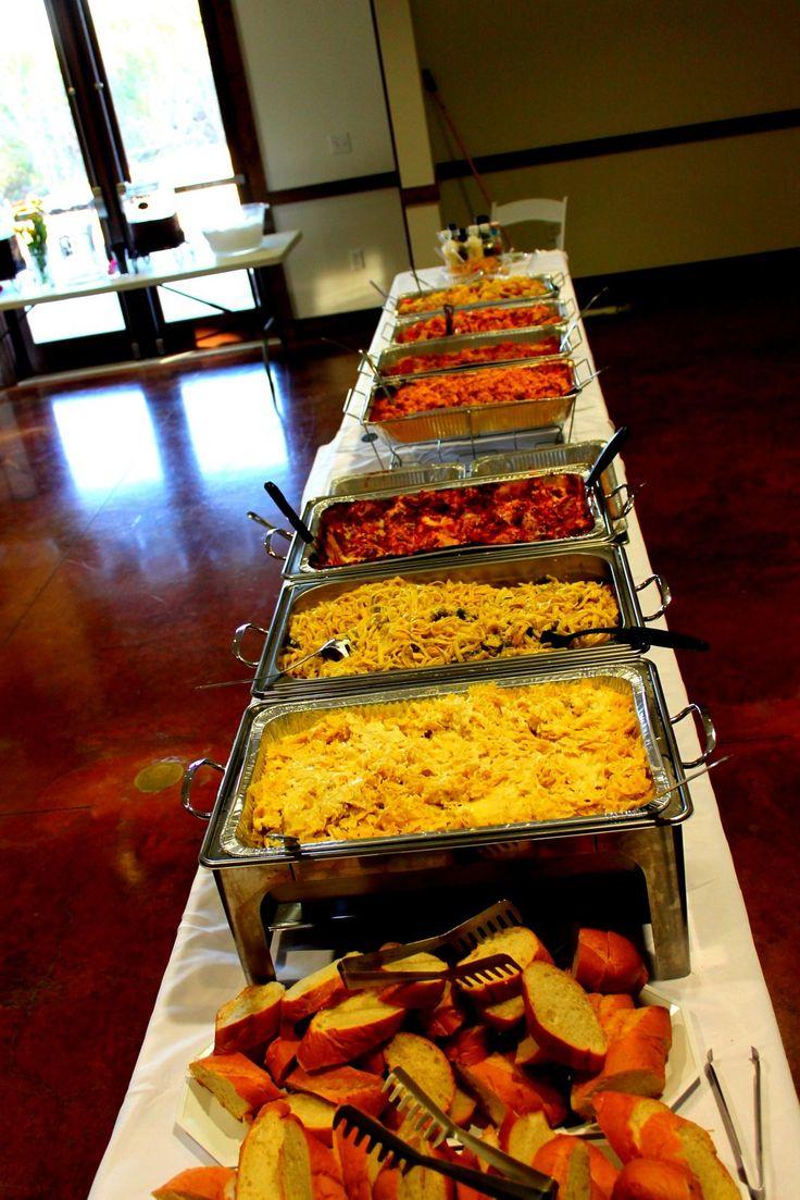 Wedding Italian pasta buffet