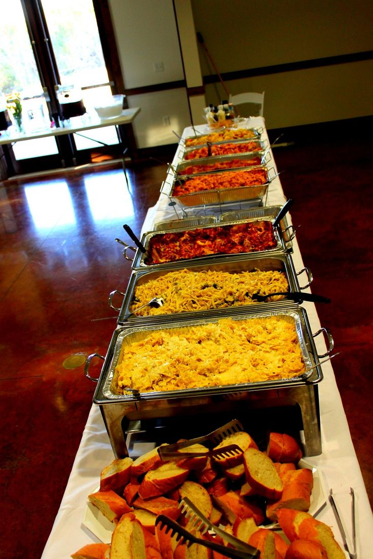 Wedding Italian pasta buffet