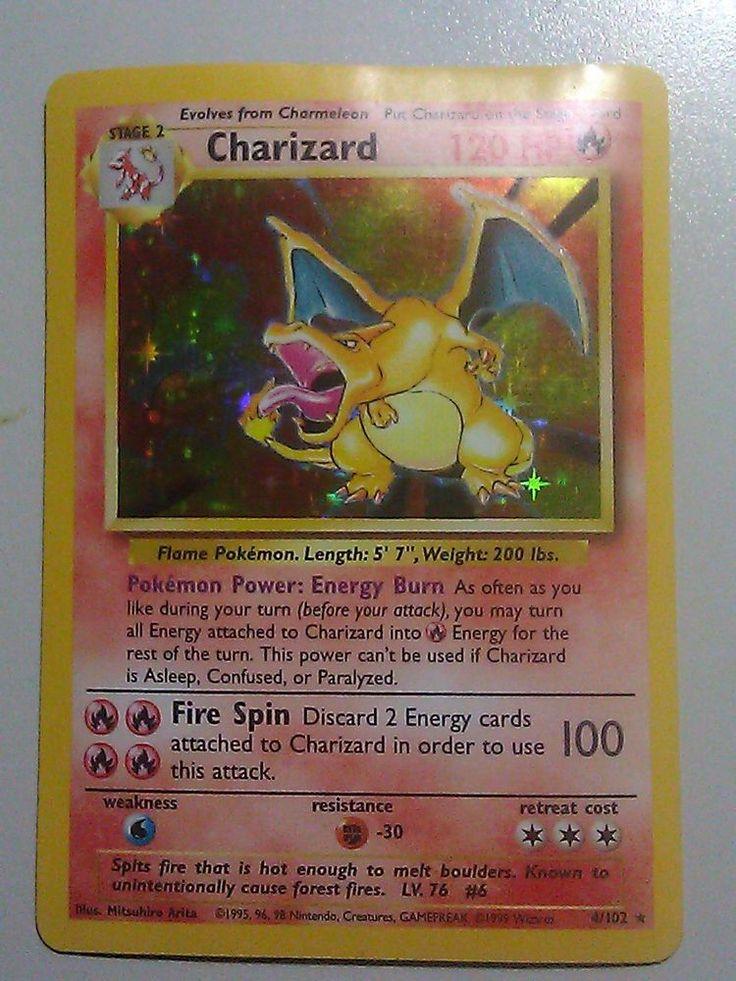 Charizard 4102 1st pokemon card set holo 1999 very good