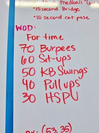 I miss crossfit. Except for the HSPU (head stand push ups). And the pull ups. And the blisters. And box jumps grrrr lol